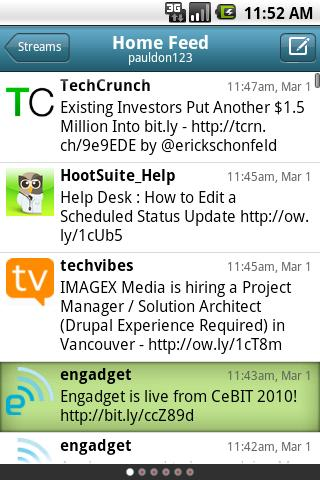 HootSuite Android screenshot