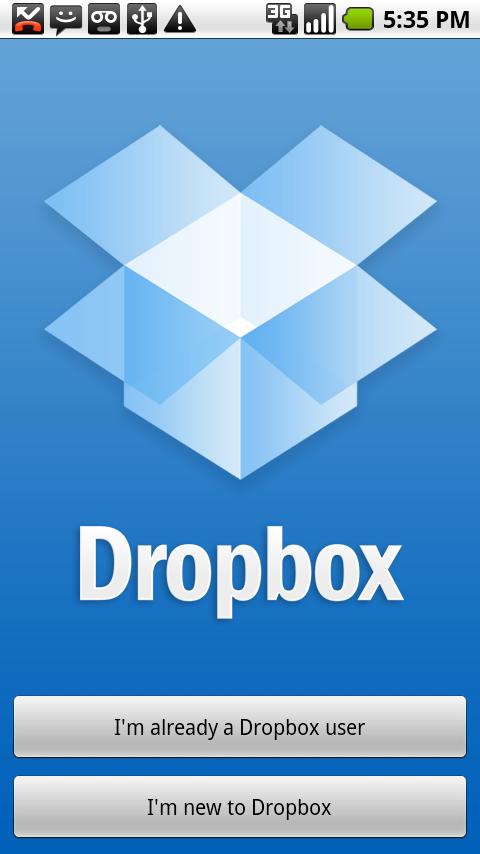 Online opslagdienst Dropbox binnenkort ook op Android
