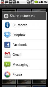 Uploaden van foto's met Dropbox.