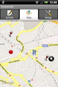 Android-applicatie GeoJoooid zet artikelen op de kaart