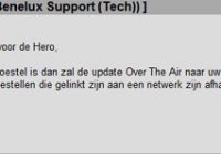Update HTC Hero naar Android 2.1 nu beschikbaar