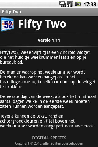 fiftytwo android app
