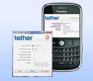 tether for blackberry