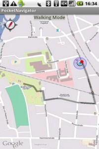 Pocket Navigator Kaart
