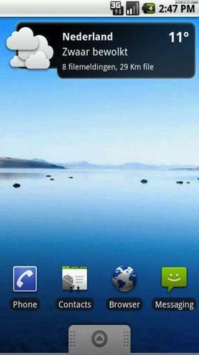 Weer en Verkeer widget: weerbericht en files op je Android homescreen