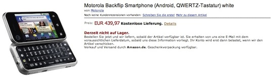 Motorola Backflip Amazon.de