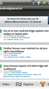 SkyFire Android Planet Mobiele weergave