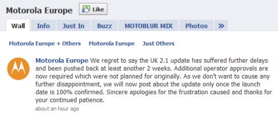 motorola milestone excuses