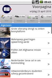 NU.nl v2 voor Android krijgt update met widget en Buienradar