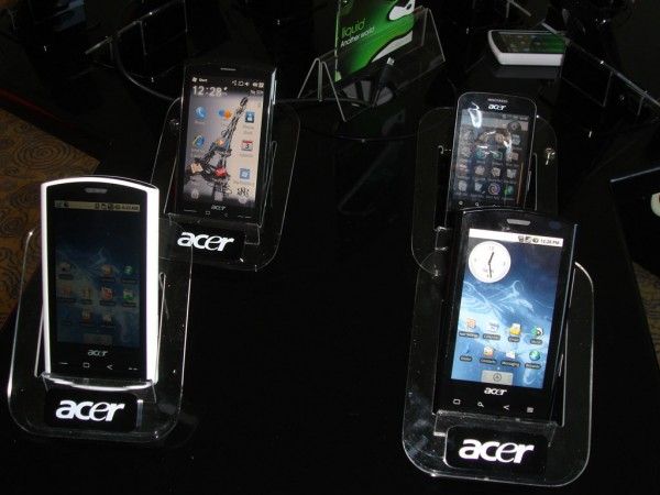 Nieuwe Android-toestellen: Acer Liquid 2 en LG P500