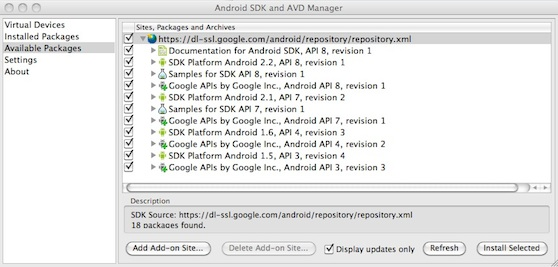 android sdk downloads