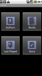 De interface van de Audiofy-app is zo simpel mogelijk gehouden.