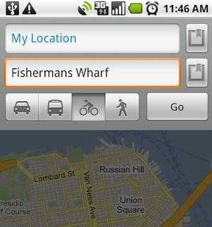 google maps fiets