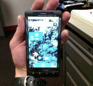 Motorola Droid Shadow gevonden in fitnesszaal