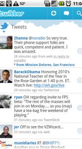 De tijdlijn in Twitter voor Android.