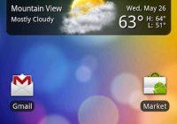 Fancy Widget: gratis klok en weerbericht in HTC Sense stijl