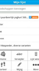 Hier zie je hoe je een boodschappenlijstje samenstelt.