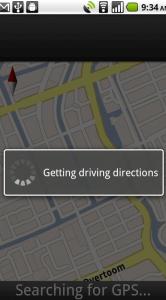 Ophalen van instructies om te navigeren.