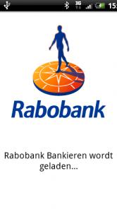 Het startscherm van Rabo Bankieren.