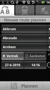 De indeling van het planningsscherm is iets veranderd: er staat nu een extra knop Aankomst bij.