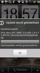 Stap 3: de update wordt gedownload.