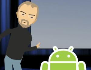 Android verstoort WWDC-keynote van Steve Jobs (humor)