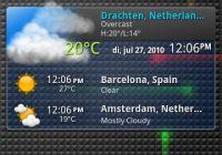 Moxier World: weerbericht met uitgebreide widget voor Android