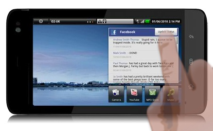 dell streak facebook
