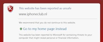 Probleem met website opgelost