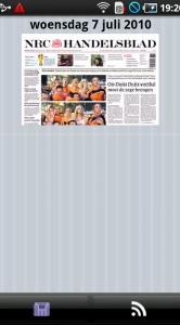 Een gedownloade krant.