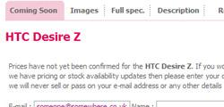 Komt de HTC Desire Z naar Europa?