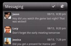 Nieuwe sms-widget voor LauncherPro Plus