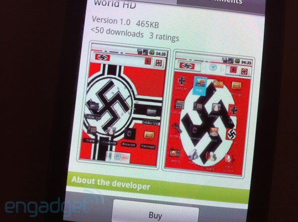 Schokkende Nazi-applicatie in de Android Market