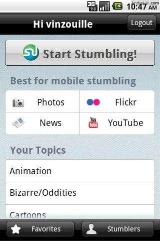 StumbleUpon: bezoek willekeurige sites