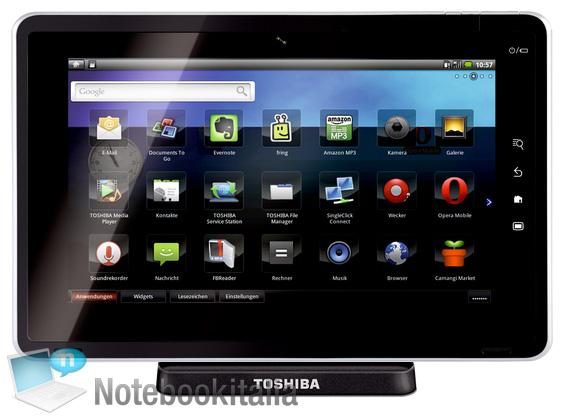 Toshiba Folio 100: de concurrent van de Galaxy Tab?