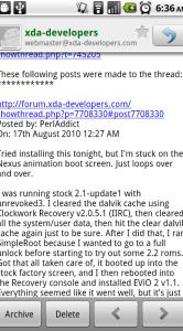 Een mailbericht in GMail.