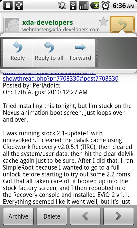 Nieuwe GMail-applicatie voor Android 2.2 uitgelekt