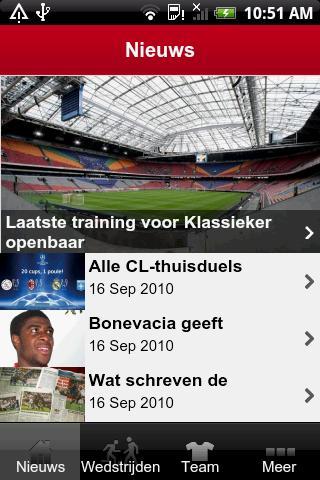 Ajax Mobile: volg het laatste nieuws over de Amsterdamse club