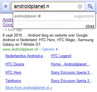 Google Instant Search: ook voor Android?