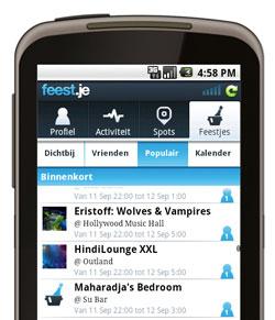 Feest.je 2.0 voor Android: eindelijk inchecken op feestjes
