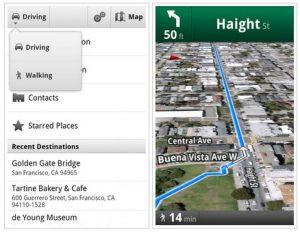 Google Maps navigatie voetgangers