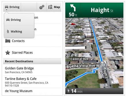 Google Maps voor Android krijgt navigatie voor voetgangers