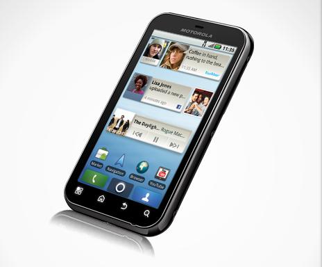 Motorola Defy kan tegen een spatje water