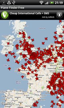 Zoek vliegtuigen in de lucht op met Plane Finder voor Android