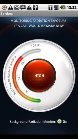 Tawkon meet hoeveel straling je telefoon produceert