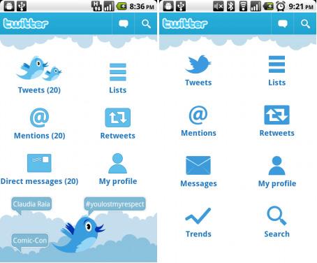 Twitter voor Android krijgt minimalistisch menu