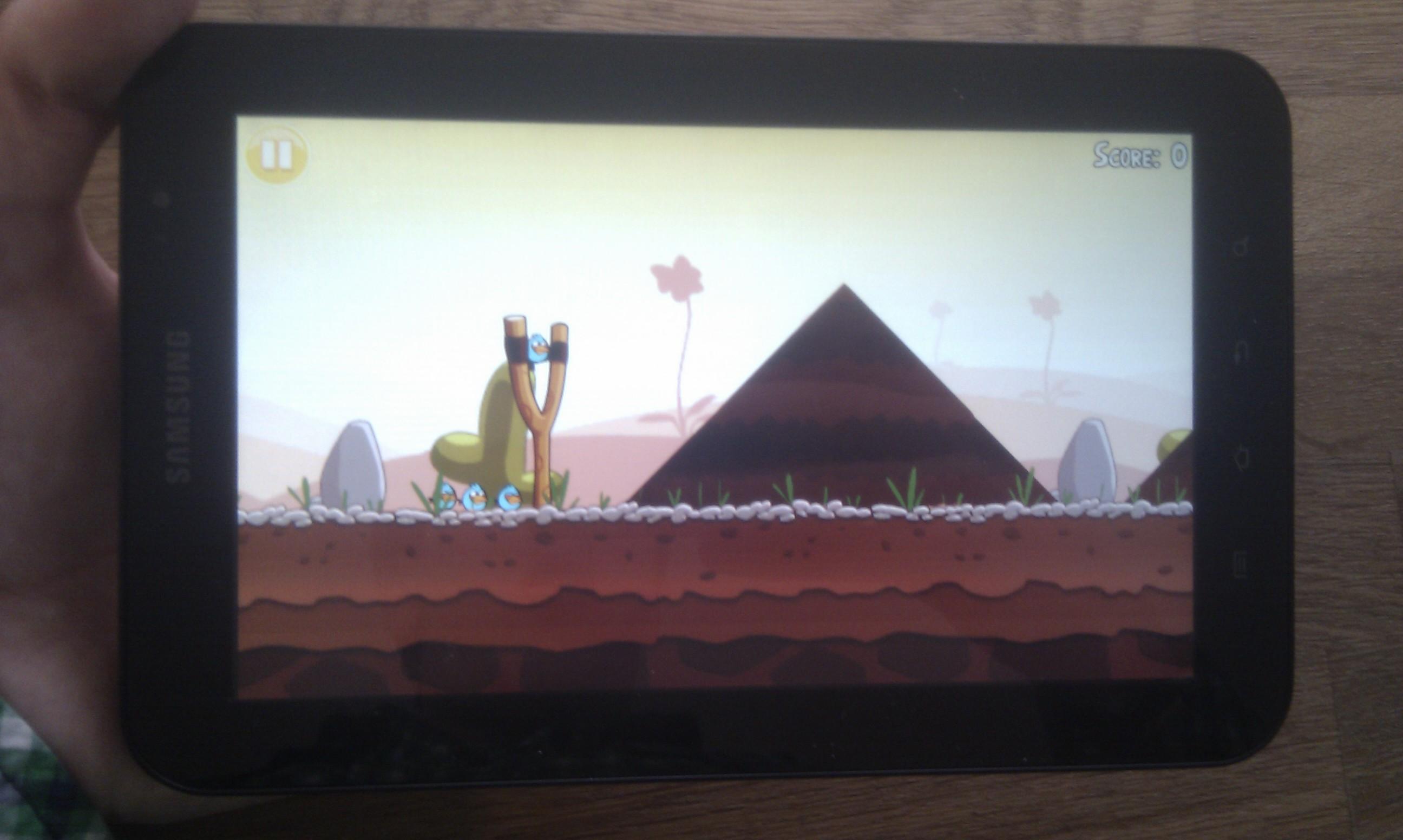 Gamen op een Samsung Galaxy Tab