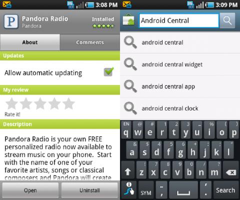 Oude Android-versies krijgen toegang tot nieuwe Market