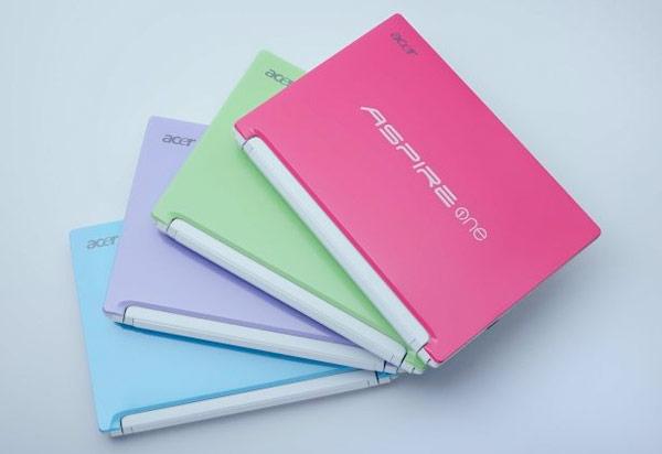 Android-netbook van Acer komt in vrolijke kleurtjes