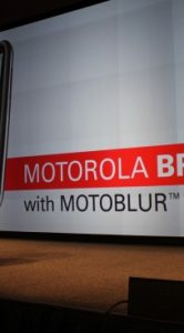 aankondiging van motorola bravo